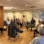 Friday morning 'Fitness First' class with our residents! Just one of the many fitness classes we offer because reg physical activity helps improve both mental & physical health. #exercise #activeseniors #fridayfitness #wellbeing #forbetterretirementliving