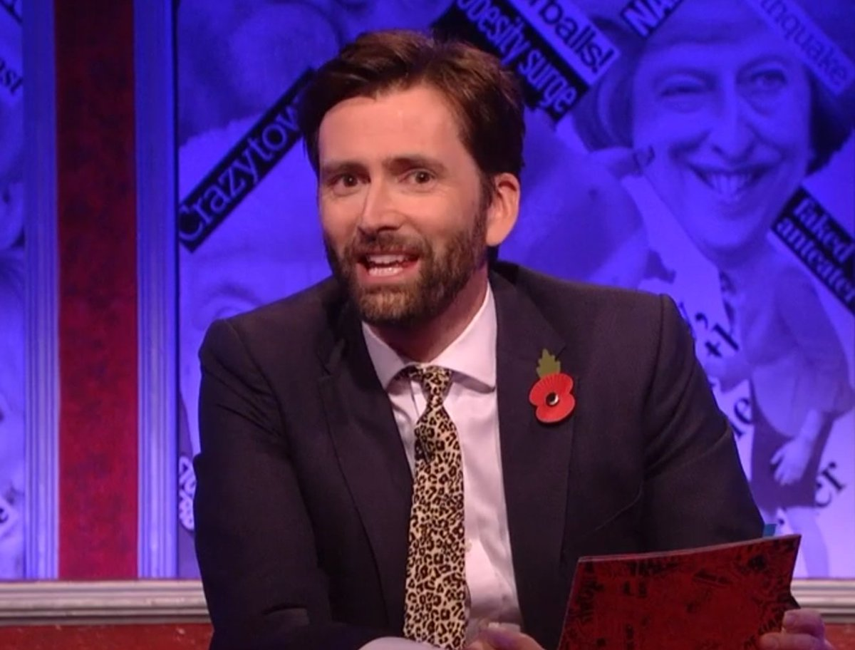David Tennant's fourth episode of Have I Got News For You - Friday 9th November 2018