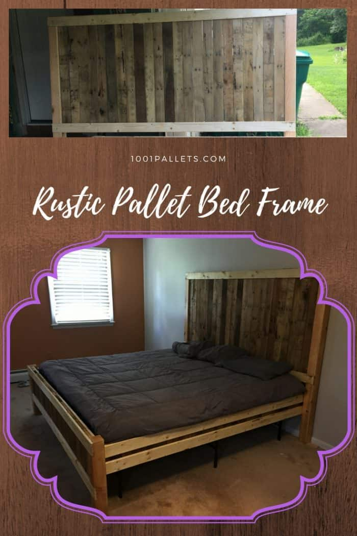 Recyclart On Twitter Rustic King Size Pallet Bed Frame Https T Co 7e4rlqqsc0 Bedroom Palletbed Palletbedframe Recyclingwoodpallets Https T Co Bwasdj5r6w