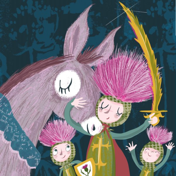 Thistle Knights with their trusty Donkey steed #colour_collective #thistle Knights of the Prickly Table  #kidlitart #artistsontwitter<br>http://pic.twitter.com/LsIP4icBz8