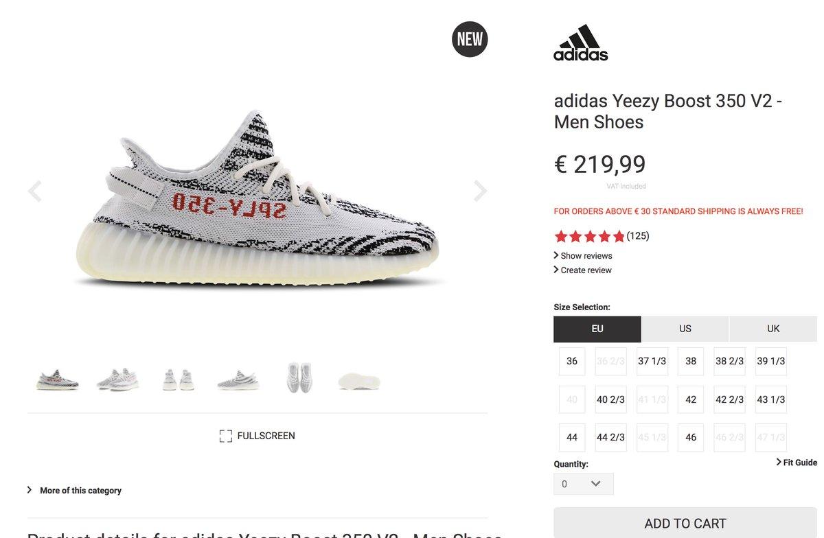 RESTOCK via Foot Locker EU adidas Yeezy