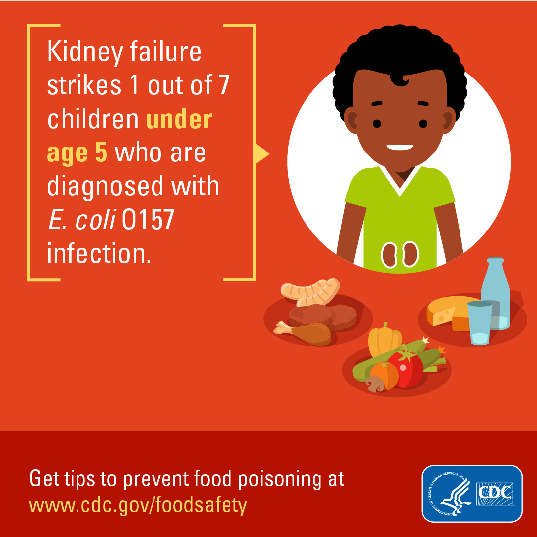 Hamilton Co Health On Twitter Did You Know That Kidney Failure Strikes 1 Out Of Every 7 Children Under The Age 5 Who Are Diagnosed With E Coli 0157 Infection Foodbourneillness Foodsafety