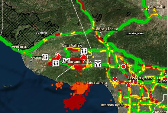 Interactive Fire Map Woolseyfire Burning In Ventura County