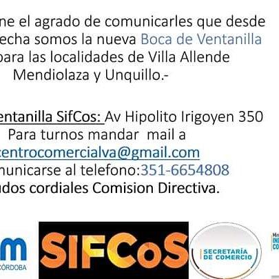 El NCCVA de #VillaAllende es la nueva Boca de Ventanilla SifCos; para las localidades de #VillaAllende #Mendiolaza #Unquillo Seguimos sumando gestiones¡¡ @FedecomCBA @MICyM_Cordoba @ComercialVa @MunicipalidadVA @munimendiolaza @MuniUnquillo @redcame @PymeCba