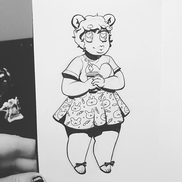 #Inktober day 11. Do I call it #Inkvember now? . #art #artistsoninstagram #character #characterdesign #illustration #charactersketch #agenderartist #pencil #ink #monstergirl #bear #beargirl #https://ift.tt/2Dvg351 pic.twitter.com/sZ2CPOI0t0