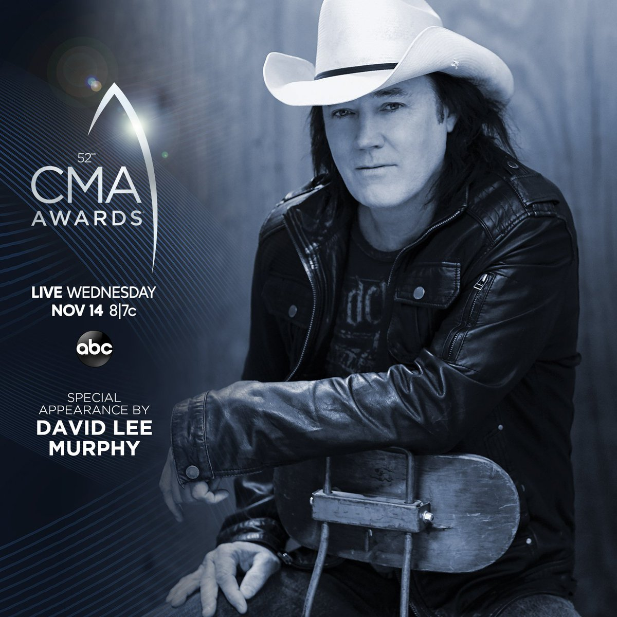 .@DavidLeeMurphy has been added to the #CMAawards lineup for a special appearance! Watch this Wednesday at 8|7c on @ABCNetwork.