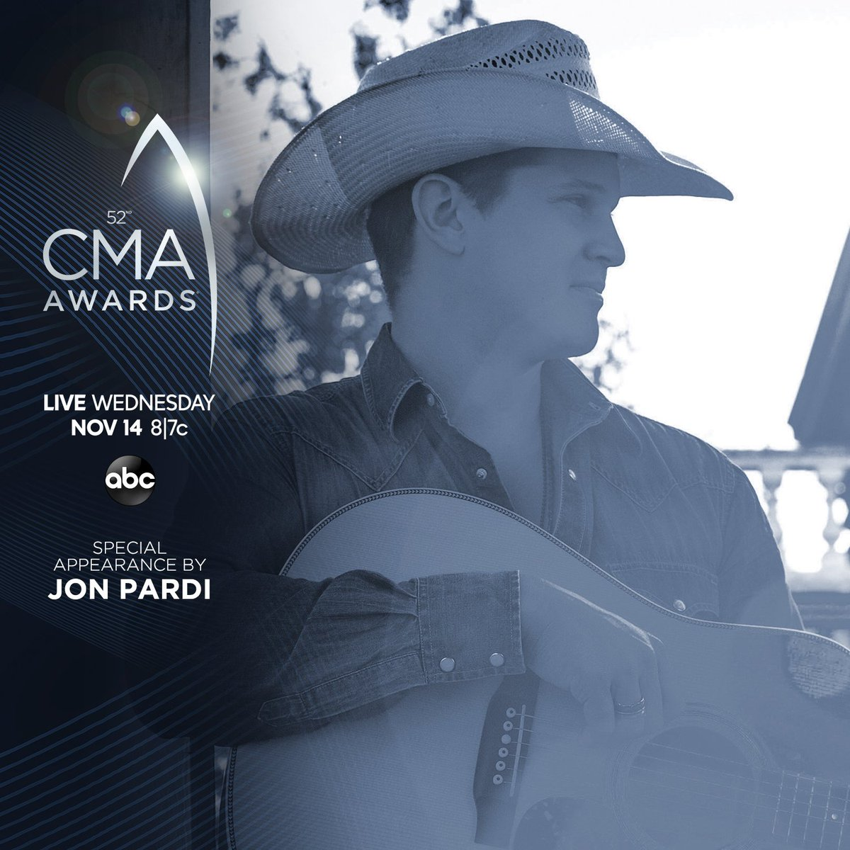 Cant have an awards show without a little Pardi! See a special appearance by @JonPardi during the #CMAawards this Wednesday at 8|7c on @ABCNetwork. CMAawards.com