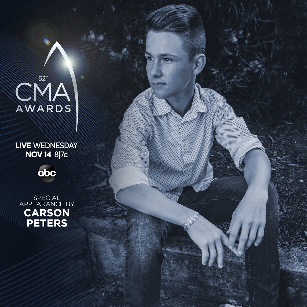 Watch a special appearance by @CarsonPMusic during the #CMAawards this Wednesday at 8|7c on @ABCNetwork. CMAawards.com