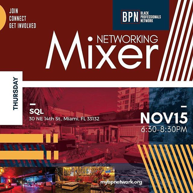 Join us for our #MonthlyMixer on November 15 at 6:30pm! It's time to showcase your brand with like minded peers. Join, connect, and get involved!  Register now at mybpnetwork.com—————————————————————— #BlackProfessionalsNetwork #myBPN #Mixer #Men… ift.tt/2qAMG92