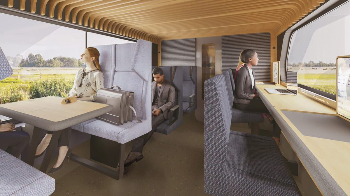 The Netherlands' new train cars are nicer than your office https://t.co/2aeIweBIeN https://t.co/Dhn0FKPI4k