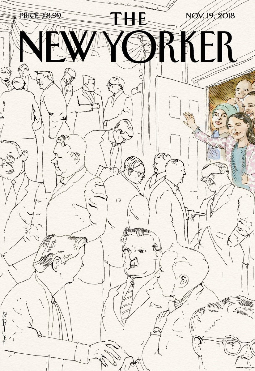 Very cool cover from the New Yorker, featuring @Ocasio2018, @IlhanMN & @sharicedavids!