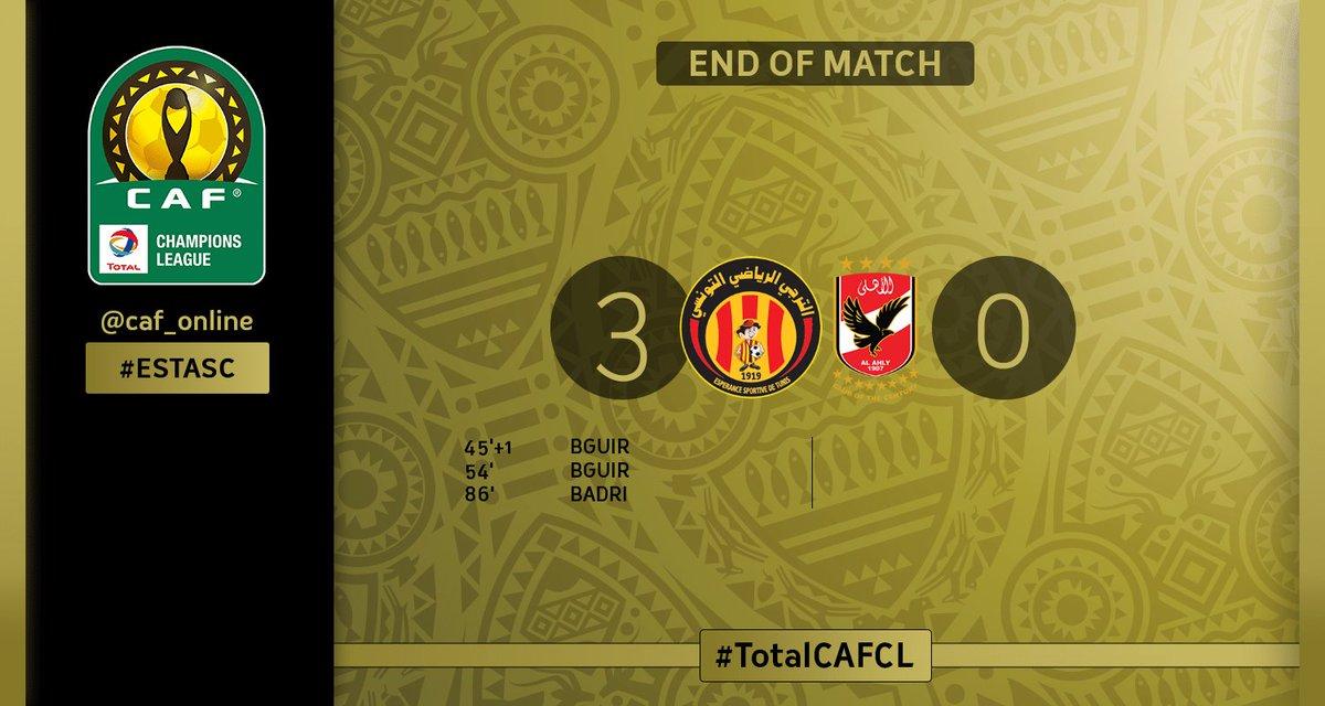 FULL TIME | Esperance - Al Ahly SC 3-0  #ESTASC https://t.co/2Ydyqa4Uz0
