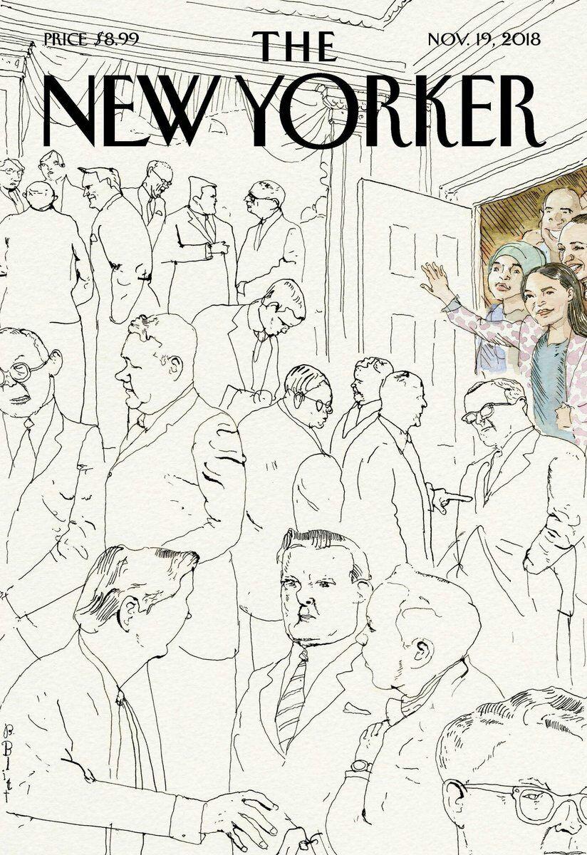 Qué buena portada en The New Yorker ✊💜