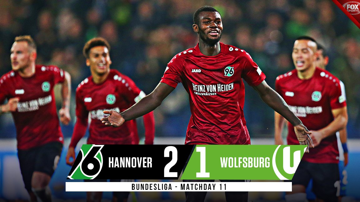 Hannover hold off a late push by Wolfsburg and pick up their second win of the season.