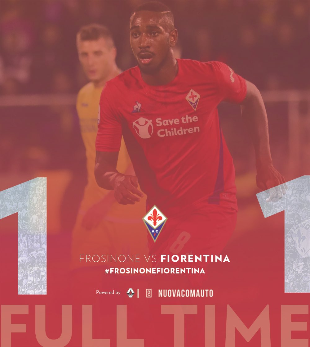 RT @acffiorentina: ⏱️ FULL TIME ⏱️ ⚽ #FrosinoneFiorentina 1-1  #NoiSiamoFirenze ⚜️ #InsiemeSiamoPiùForti #FullTime https://t.co/k2CwRLSI2p