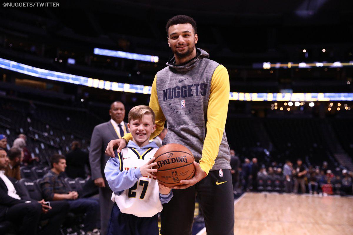 Jamal Murray got his 48-point ball back from the fan who caught Kyrie's toss �� (via @nuggets) https://t.co/pYzmu6Yzgo
