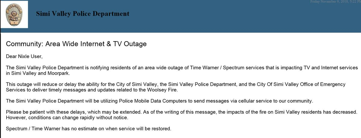 Spectrum Internet Outage Today