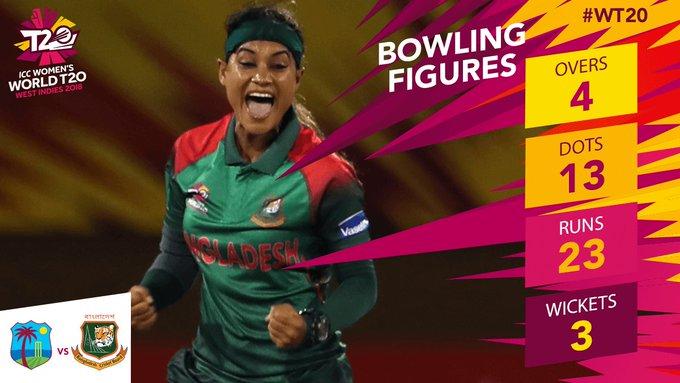 Jahanara Alam made some big strikes early! WATCH: Matthews wicket Dottin wicket #WT20 #WatchThis Photo