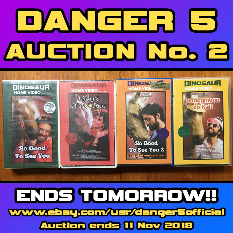 Danger 5 Auction  2 ends TOMORROW!! Don't forget to get your bids in, as this is your last chance to grab some screen-used D5 gear! #danger5