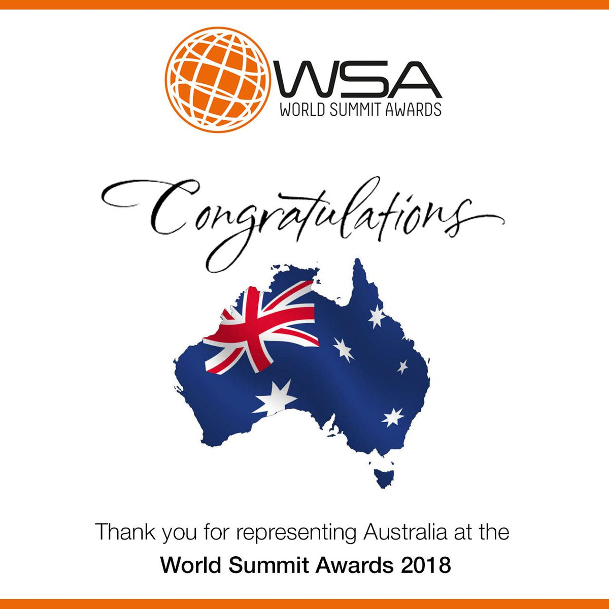 #Congratulations to all our Australian Nominees for representing #Australia 🇦🇺 at the 🇺🇳 World Summit Awards 2018 Global Competition.   We are proud of you 👍🏻 #WeAreProudOfYou  @WSAoffice #WSA #wsaaustralia #wsaghana #global #community #australia