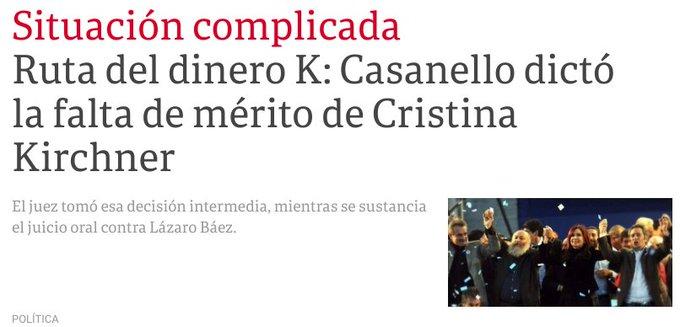 Ya sé que Casanello lo hace para que Cristina zafe, pero la verdad que falta de mérito a Cristu? Macri sos hambre Foto