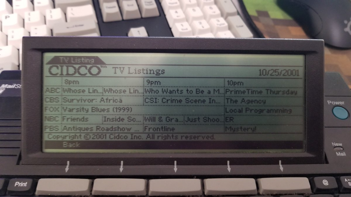 """foone on twitter: """"the yahoo! integration gives you tv listings and"""