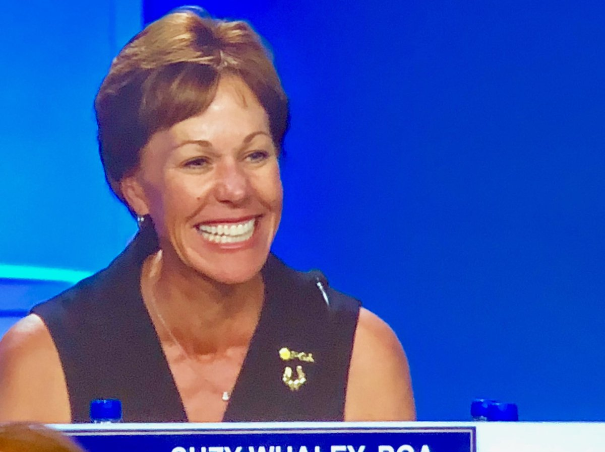 At 2:18 p. m. PT, the ⁦@PGA⁩ made it official etching a new chapter in golf history. She's President 41 and First Lady.#PGAAnnual