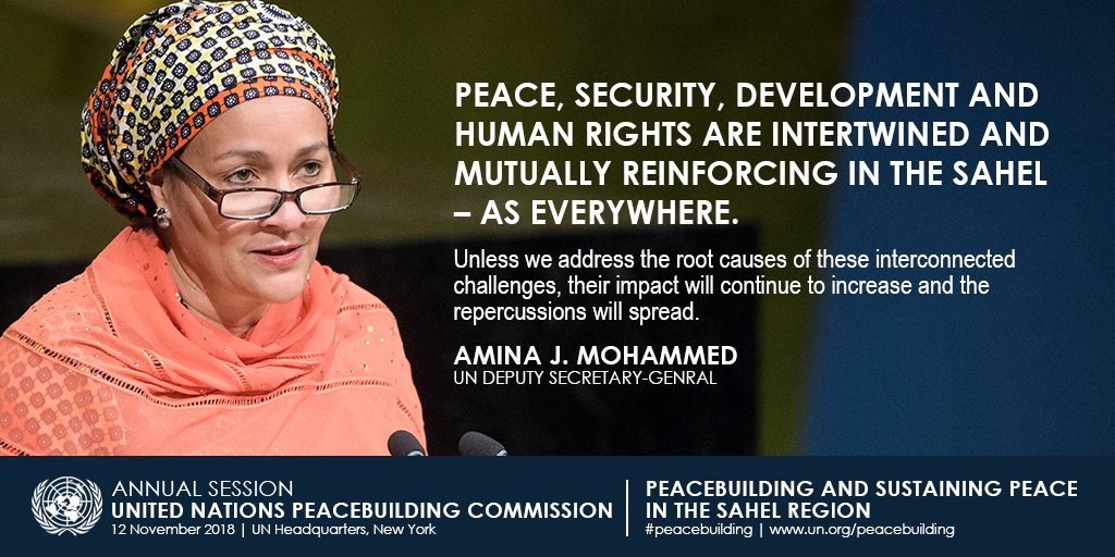 On Monday at UNHQ in NYC: @UNPeacebuilding Commission meets on sustaining peace in the Sahel region. Details: un.org/peacebuilding/…
