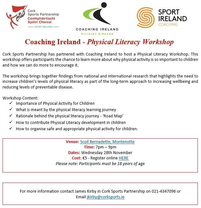 Cork Sports P Ship On Twitter Sportireland Coaching Physical