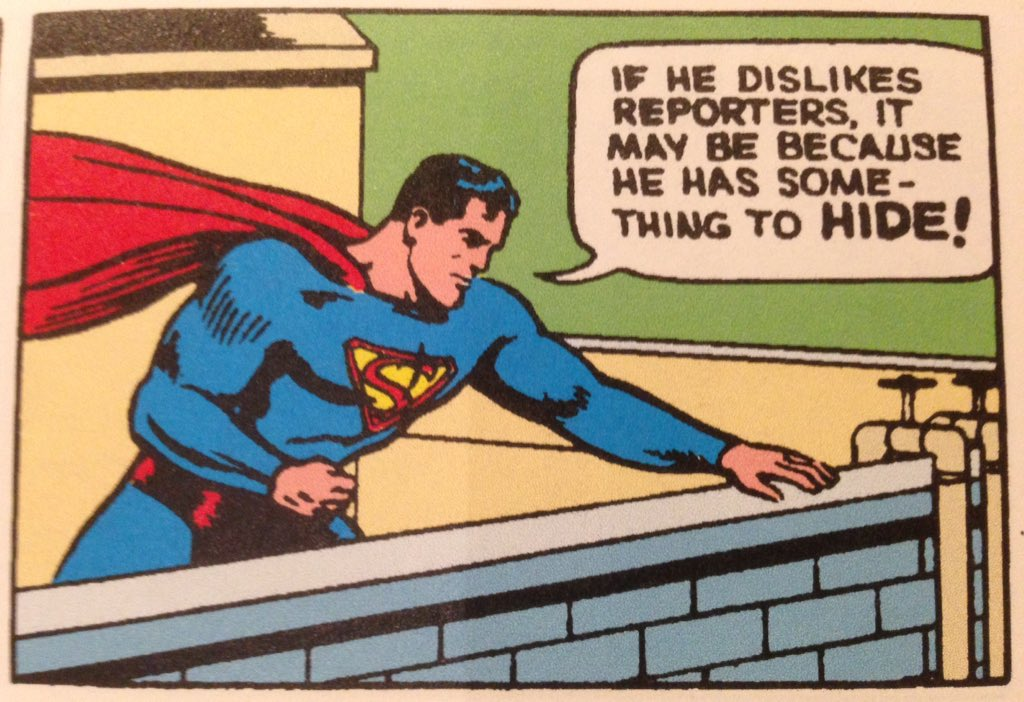 Timely commentary from Superman