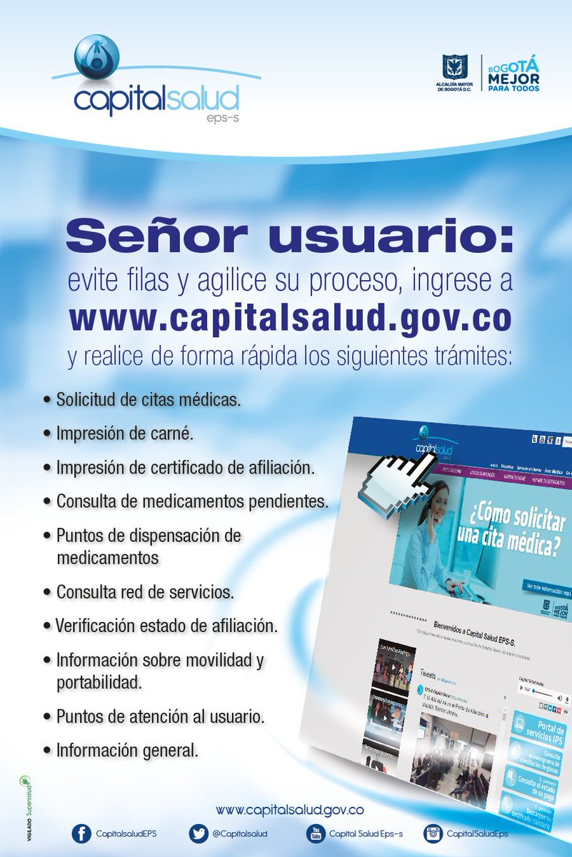 Capital salud citas medicas online
