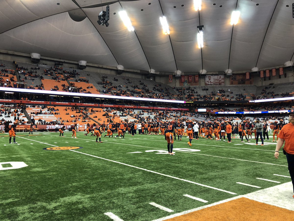 Join us at the Carrier Dome for Louisville at #13 Syracuse- 7 PM on ESPN2 @jasonbenetti and Kelly Stouffer