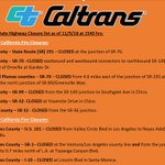 Image for the Tweet beginning: Here are the latest Caltrans