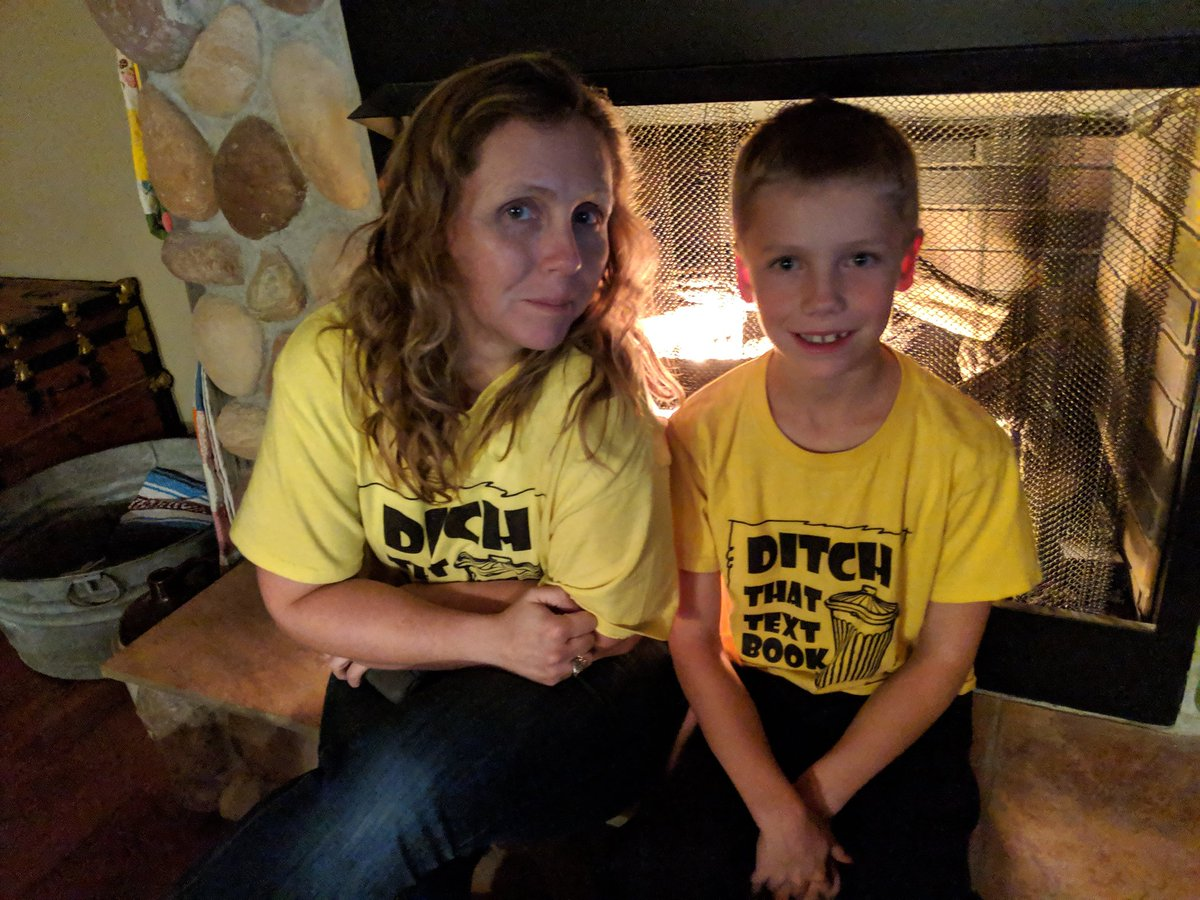 When your wife and son wear amazing shirts by coincidence ... #ditchbook