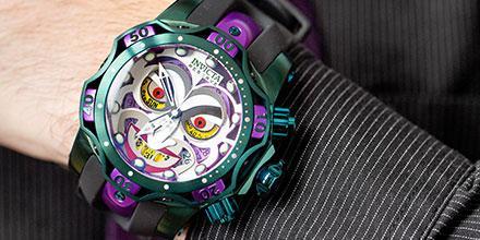#Geek 🤓 Awesome of the Day: The Joker 🃏 Invicta #DCComics Men's 52mm Venom Limited Edition Swiss Quartz #Chronograph Silicone Strap #Watch⌚ via @DCComics #SamaWatch #SamaGeek