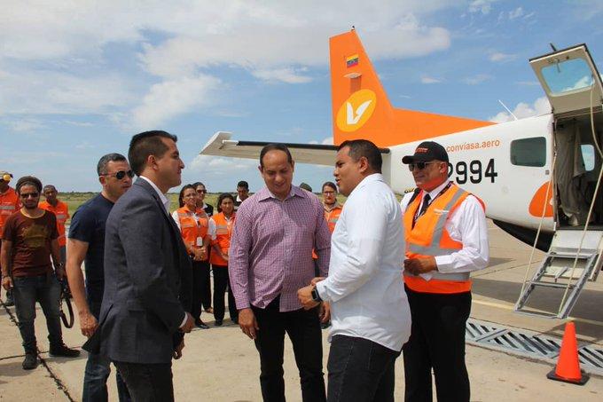#EnFotos 📸   Hoy viernes se inauguró la ruta Las Piedras (Falcón)- Aruba, ofreciendo dos vuelos diarios y asientos al año. Con un costo de Petros. CONVIASA quedó certificada por el INAC, para efectuar vuelos internacionales empleando los aviones CARAVAN Foto