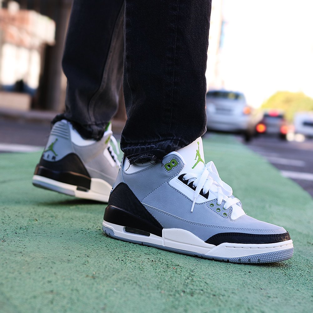 a57e33182f Online Now: The Nike Air Jordan 3 Retro Chlorophyll Tinker in Mens ...