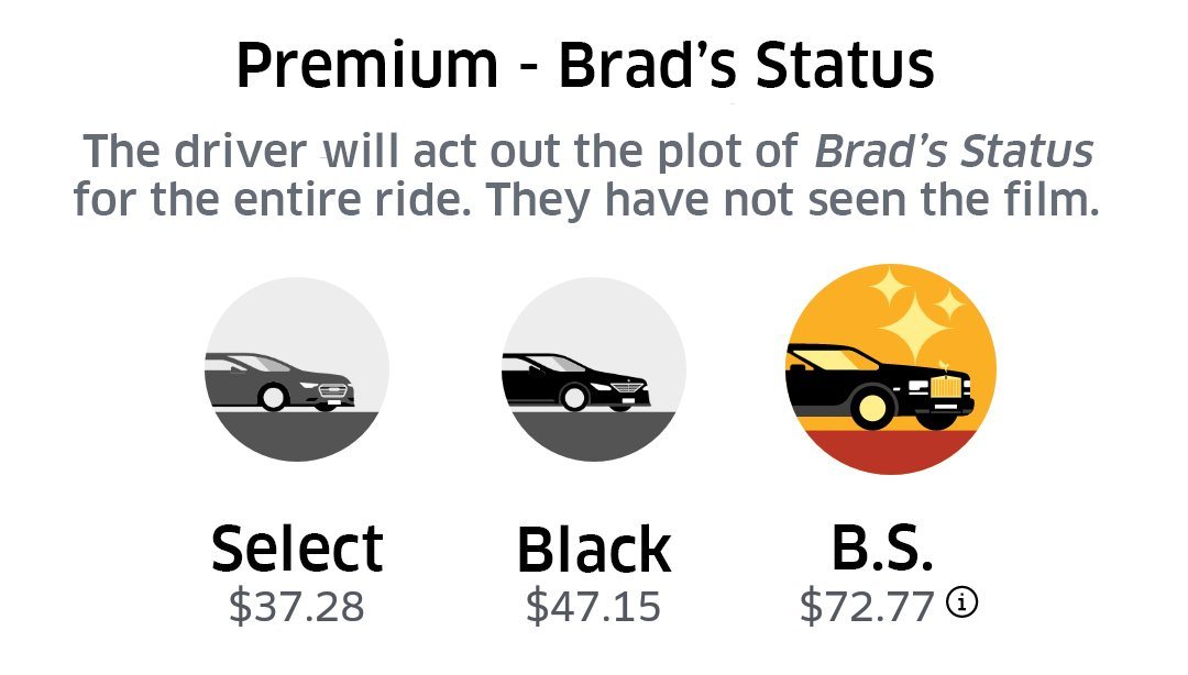 Who the hell would ever choose this Uber Premium option???