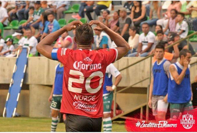Roberto Nurse fue titular y anotó al minuto 65' en la victoria de @minerosfc 🆚 Venados! El encuentro tuvo un marcador final de 3-1! Foto