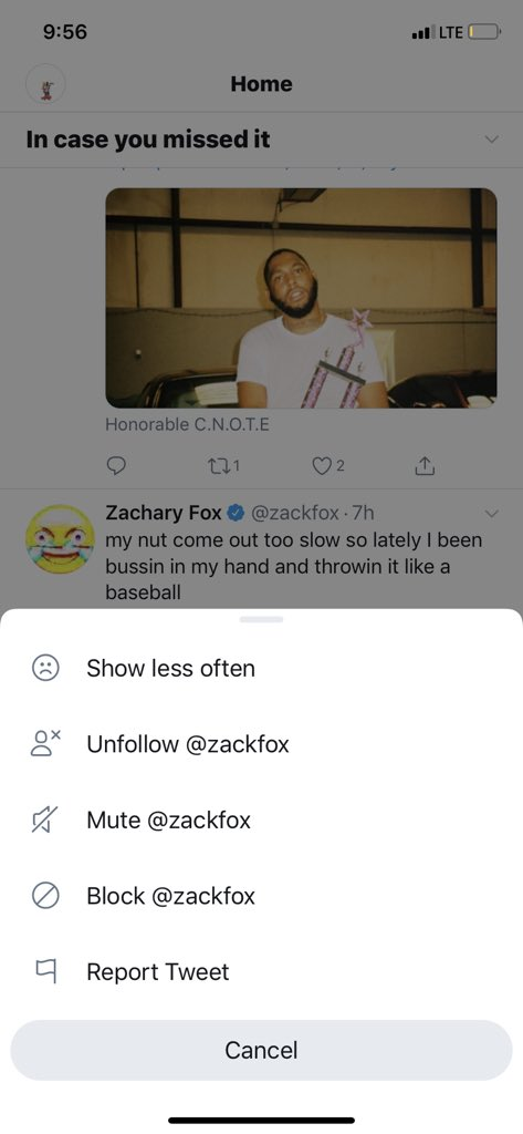 @zackfox Dawg which you want the mute or the block or the unfollow or show less often.