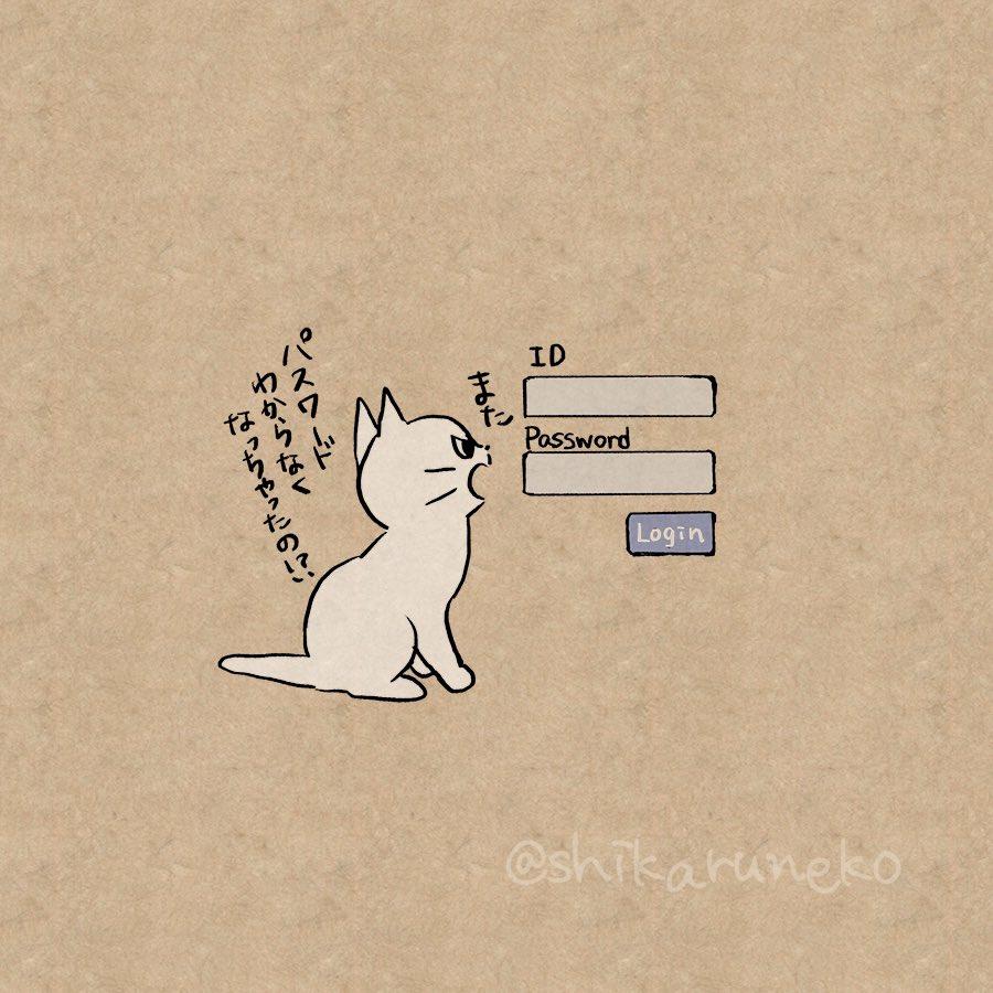パスワードを忘れる人を叱ってくれる猫