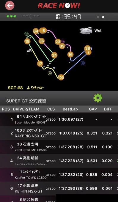 2018 AUTOBACS SUPER GT Round8 MOTEGI GT 250km RACE GRAND FINAL予選 Race Now!ってアプリ今日初めて使ったら公式練習からも使えたし車両位置わりと正確に捕捉してリアルタイムで更新されるし情報も多くて意外と良かった #SUPERGT Photo