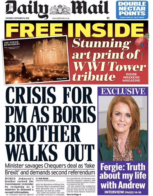 Previously the Daily Mail would have called Jo Johnson an 'enemy of the people' a saboteur, a traitor. Not now, things are Photo