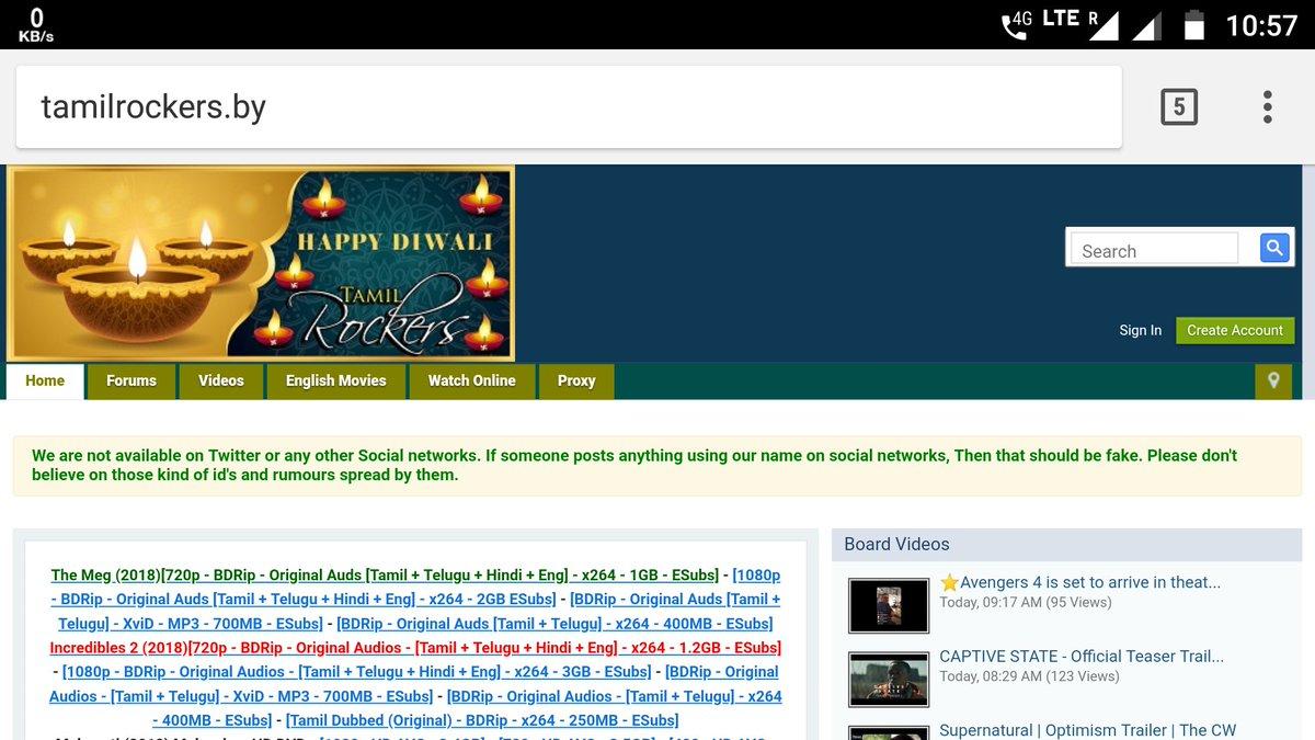 Tamilrockers New Domain