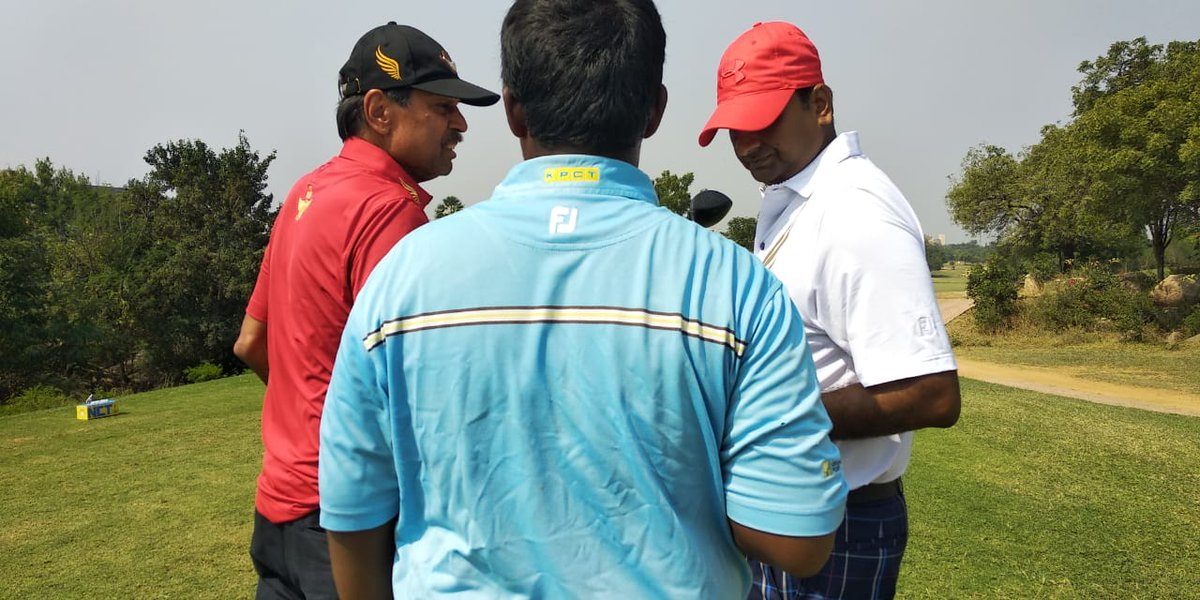 Kapil Dev at the course. Golden Eagles Golf Championship