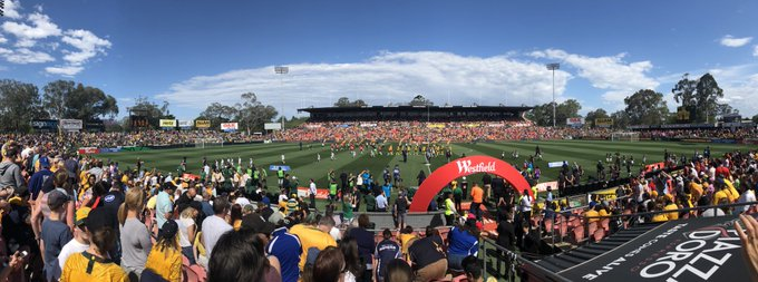 WOW! Thank you to the 15,185 in attendance here in Penrith. #GoMatildas #AUSvCHI Photo