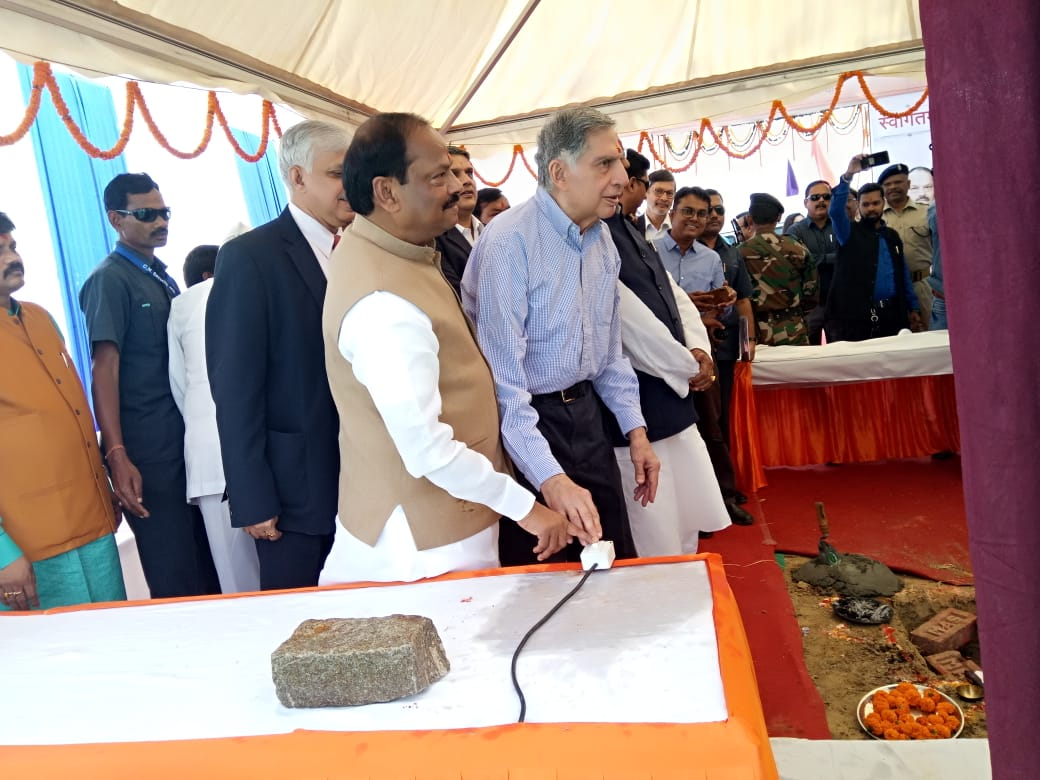 Ratan Tata and Raghubar Das lay foundation for cancer hospital in Ranchi