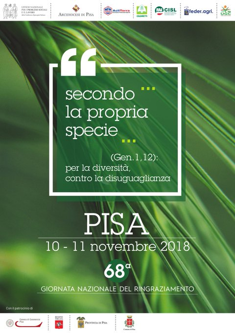 #10novembre #Pisa In occasione della 68ma Giornata nazionale del Ringraziamento la Fai Cisl partecipa al seminario di studio Secondo la propria specie. Per la diversità, contro la disuguaglianza Foto