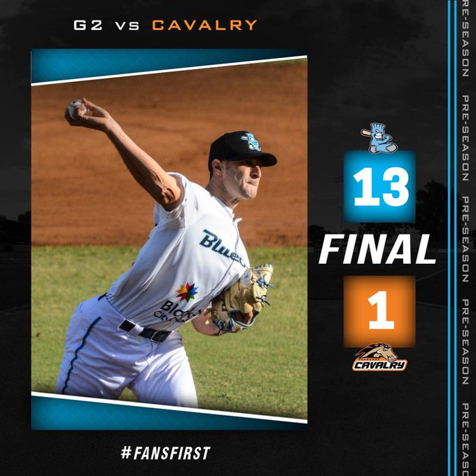 Blue Sox take game 2, 13-1. We look forward to seeing you all in just 5 days at Opening Day against Geelong Korea! #FansFirst Photo