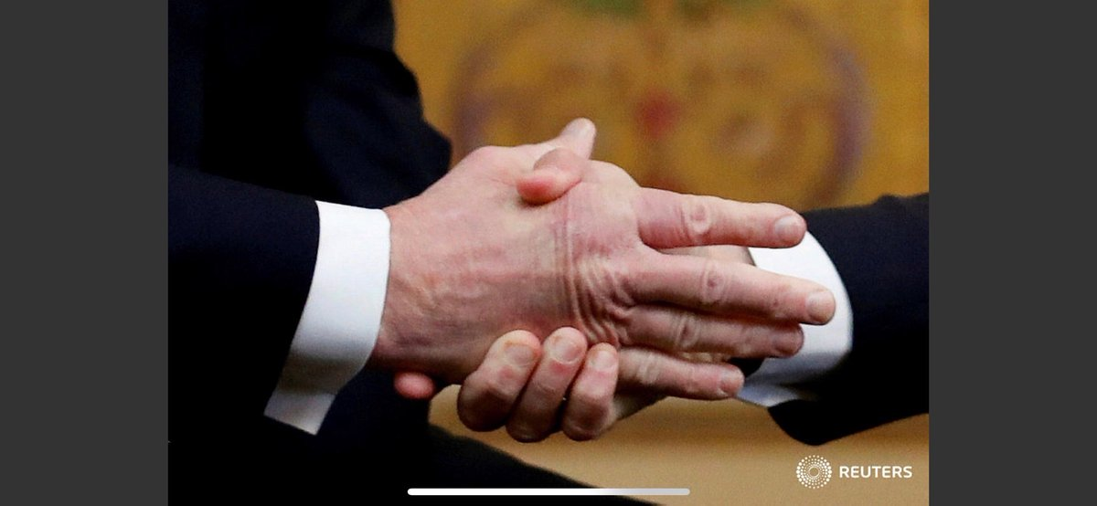 Our great photographer Carlos Barria captured Macron's grip in Trump's hand at Elysee Palace